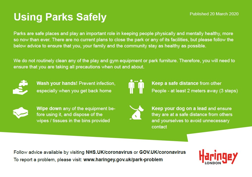 using parks safely
